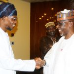 Governor State of Osun , Ogbeni Rauf Aregbesola (lrft) and his  Kogi State conterpart, , Captain Idris Wada during the 19th Nigerian Economic Summit, at Transcorp Hilton Abuja, on Wednesday 04 – 09 – 2013 .