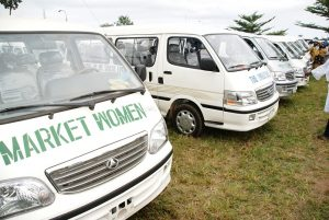 Cross section of Buses which thé State Government of Osun distributed to Market Women in all the Local Govrnment in thé State