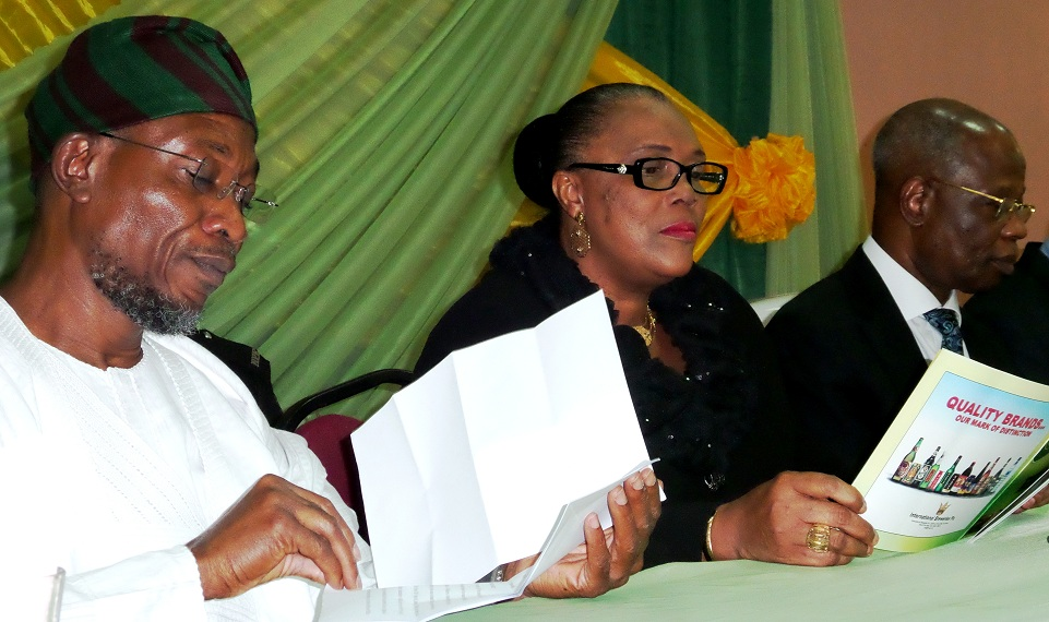 Governor State of Osun, Ogbeni Rauf Aregbesola; President, Customary Court of Appeal, Justice Glorial Olagoke and Chairman on the occasion, Chief Felix Fagbohungbe (SAN),  at the annual Sapara Williams Memorial Law Week, at Kings Centre, Ilesa, State of Osun on Tuesday 26-11-2013