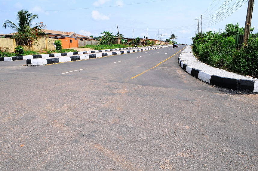 Shows some of the 21 selected roads (26.40km) in Osogbo Township in the State of Osun newly commissioned by Governor Rauf Aregbesola on Monday 28-04-2014