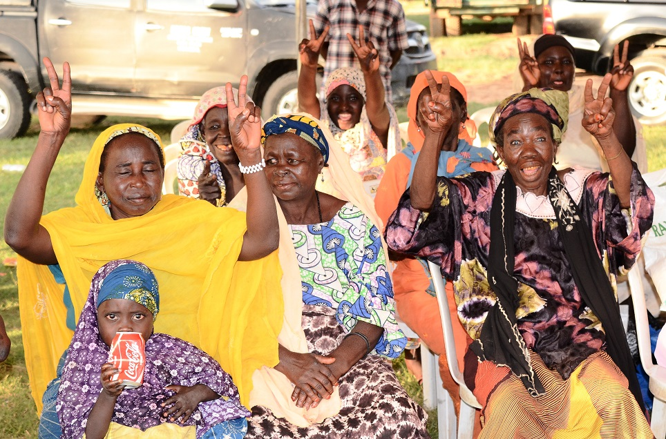 Cross Section of Disables and Beggars, reacting to Governor Rauf Aregbesola's address, during a party organised by their Association to celebrate Aregbesola's re-election in Osogbo, State of Osun on Friday 07-11-2014