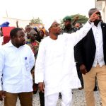 From right- Governor State of Osun, Ogbeni Rauf Aregbesola; General Manager, TERA AND PICO Construction Limited, Engineer Shehu Abdul-Kadir and Former Senior Special Assistant to the Governor on Millennium Development Goals (MDGs), Alhaji Abdullahi Binuyo during an Inspection Tour to the A.U.D Elementary School, Inisha, at the weekend