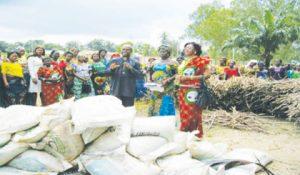Women-farmers-receiving-Cassava-stems-