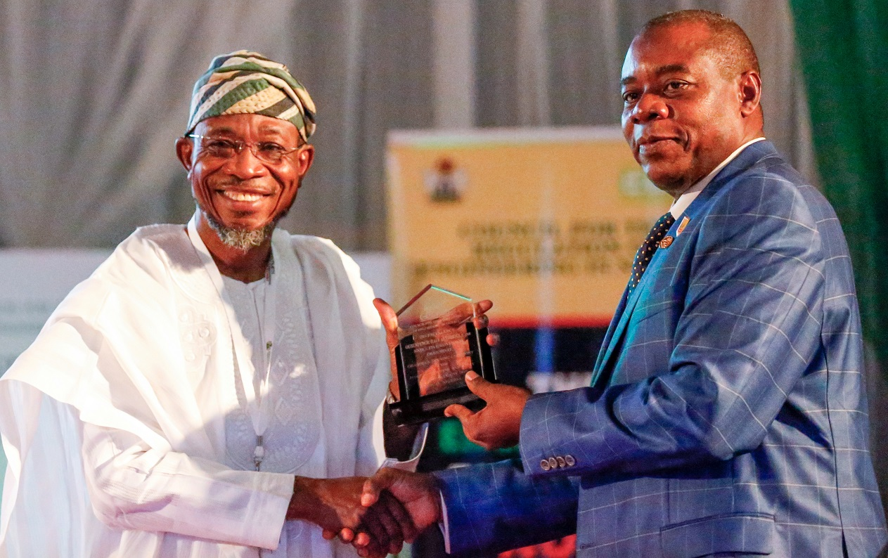 Aregbesola Receives Award of Excellency from Council for Regulation of Engineering
