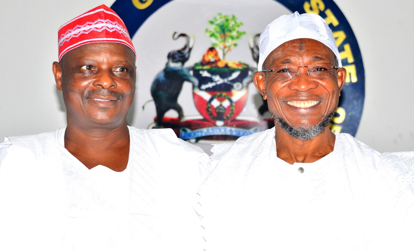 Governor State of Osun, Ogbeni Rauf Aregbesola and Former Governor of Kano State, Senator Rabiu  Musa Kwankwaso, during a visit to Aregbesola, at Government House Osogbo, State of Osun, on Thursday 22/10/2015