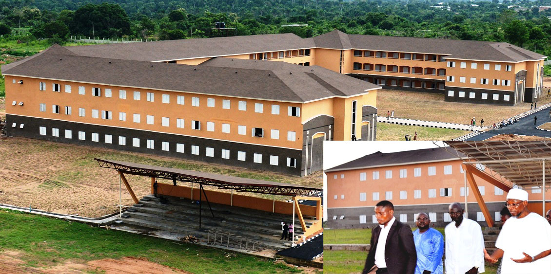 Governor State of Osun, Ogbeni Rauf Aregbesola, inspecting the completion of Ejigbo High School toward commissioning to mark the first year anniversary of his second term in office,at Ejigbo on Sunday 14-11-2015