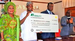 Presentation of N87.9 Million Cheque to the Apostolic Church 2