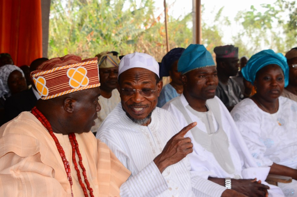 Ogbeni Aregbesola in conversation with the Oba of Iragbiji