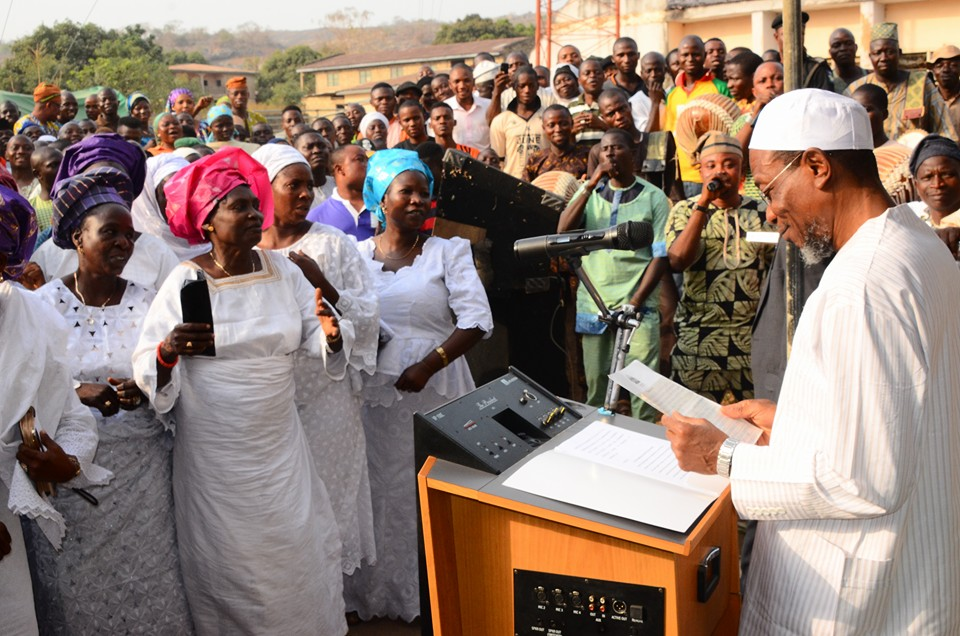 Ogbeni Rauf Aregbesola took time to acknowledged the women before delivering his speech on the day