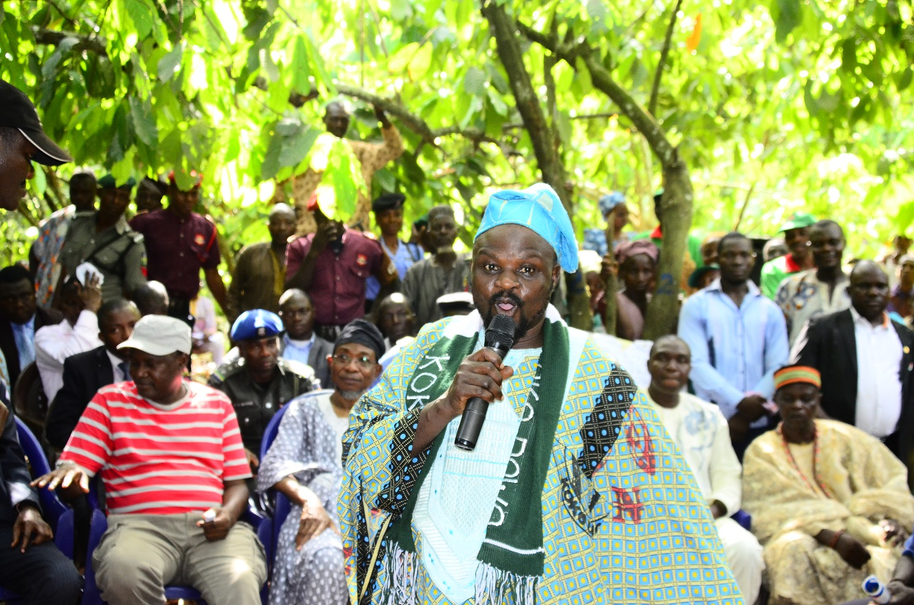 """Chairman of the """" Agbedowo"""" association thanked the government for its support for agriculture"""