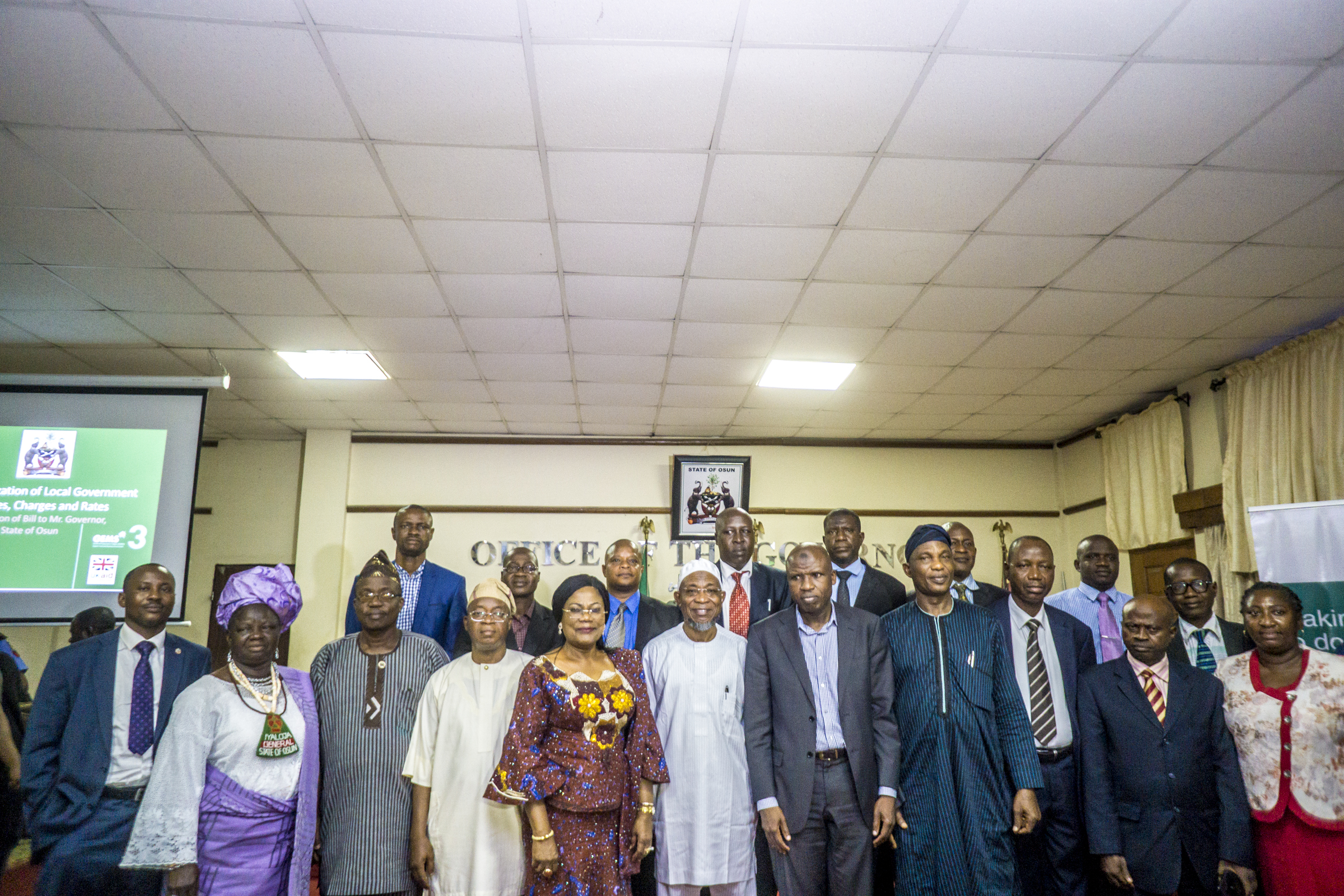 Group photograph with members of the harmonization committee